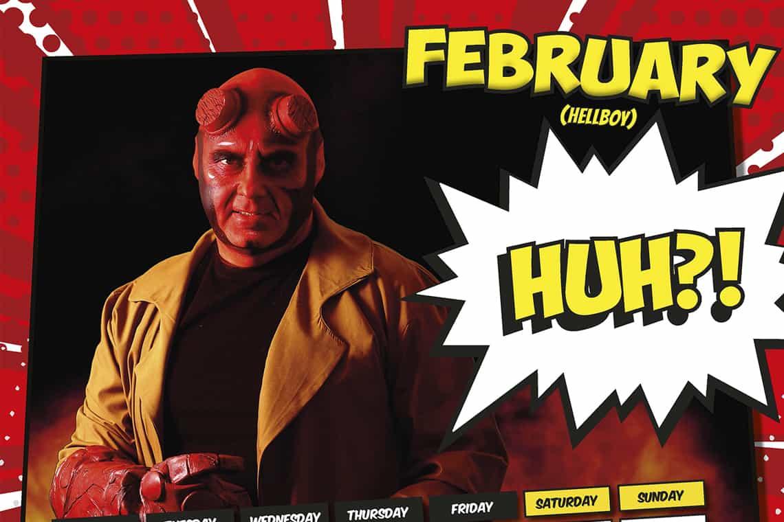 Design Pit Superhero Insurance Calendar