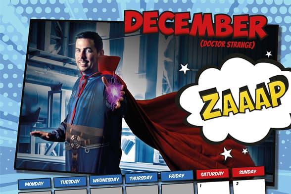 Superhero Insurance Calendar 2019