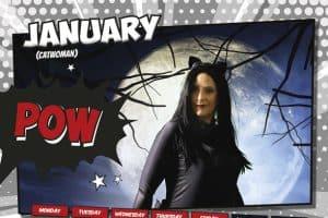 Design Pit, Prizm Insurance Superhero Calendar 2019