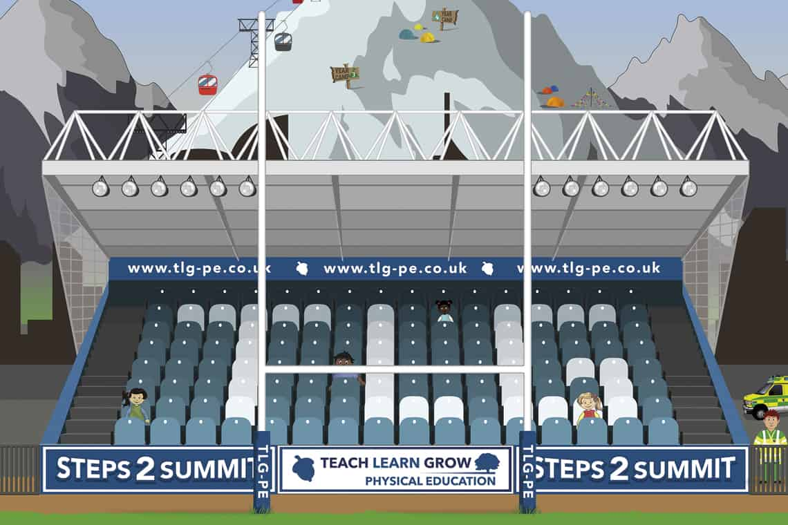 Illustration of a stadium stand for tlg-pe by Design PIt 2