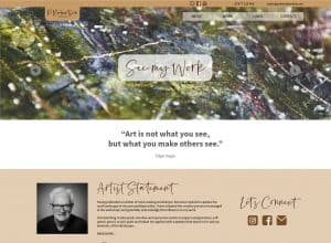 Peter Robertson Art website home page