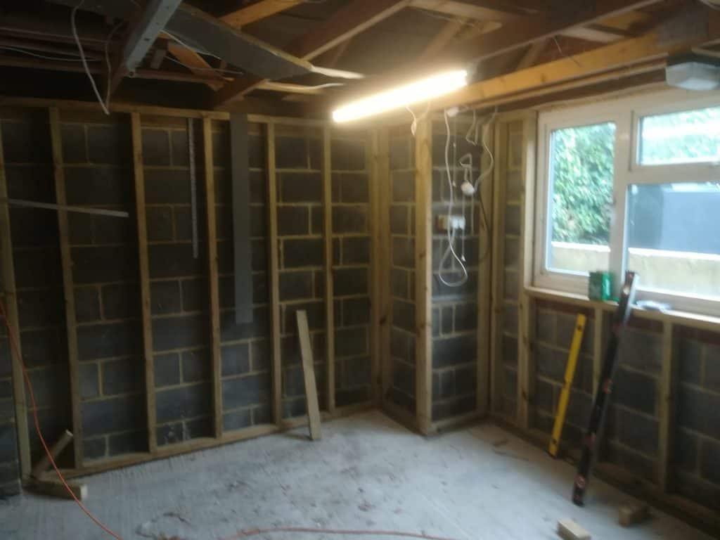 garage conversion stud work
